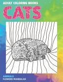 Adult Coloring Books Flowers Mandalas   Animals   Cats