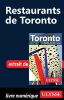 Pdf Restaurants de Toronto Telecharger