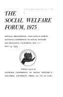 The Social Welfare Forum  1975