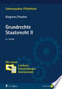 Kingreen/Poscher, Grundrechte. Staatsrecht II. Mit ebook