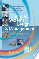 Complex Systems Design   Management Book