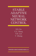Stable Adaptive Neural Network Control Pdf/ePub eBook