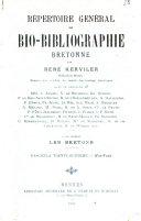 Répertoire général de bio-bibliographie bretonne