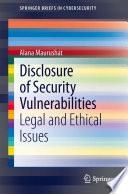 Disclosure of Security Vulnerabilities