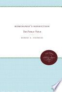 Hemingway s Nonfiction