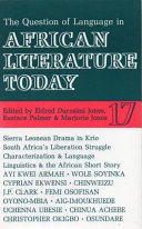 The Question Of Language In African Literature Today