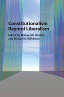 Constitutionalism beyond Liberalism Pdf/ePub eBook