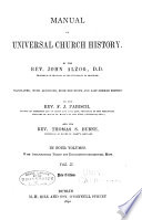 Manual of Universal Church History Book PDF