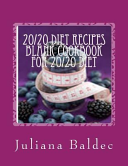 20 20 Diet Recipes Blank Cookbook for 20 20 Diet Book
