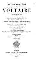 Oeuvres complètes de Voltaire: Correspondance (années 1776-1778, nos. 9751-10372) (cont'd) Bibliographie [par Georges Bengescu] 1882