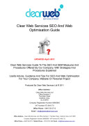 Clear Web Services SEO And Optimisation Guide