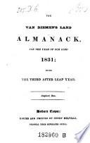 The Van Diemen s Land Almanack Book