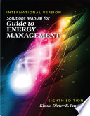Solutions Manual for Guide to Energy Management  Eighth Edition International Version