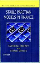 Stable Paretian Models in Finance