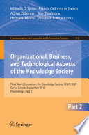 Organizational Business And Technological Aspects Of The Knowledge Society