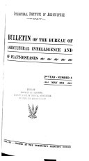 Bulletin of the Bureau of Agricultural Intelligence and of Plant Diseases