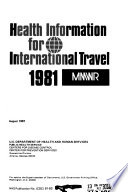 Health Information for International Travel Book