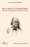 De la race à l'évolution
