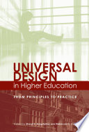 """Universal Design in Higher Education: From Principles to Practice"" by Sheryl E. Burgstahler, Rebecca C. Cory"