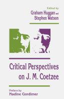 Critical Perspectives on J. M. Coetzee Pdf/ePub eBook