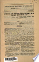 Officials And Organizations Concerned With Wildlife Protection 1937