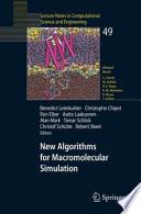 New Algorithms For Macromolecular Simulation Book PDF