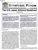 The U S  Japan Alliance Redefined