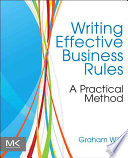 Writing Effective Business Rules Book