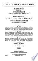 Coal conversion legislation Book