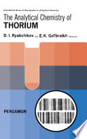 The Analytical Chemistry of Thorium Book
