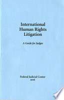 International Human Rights Litigation A Guide For Judges