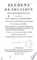 Elements de physique experimentale, suivis d'un abrege d'astronomie, a l'usage des lycees et autres etabilissemens d'instruction publique; par Pierre Jacotot ..