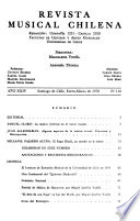 Revista musical chilena  , Band 24,Ausgabe 110 -Band 25,Ausgabe 116