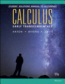Calculus Early Transcendentals 11th Edition Student Solutions Manual