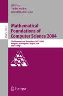 Mathematical Foundations of Computer Science 2004 [Pdf/ePub] eBook