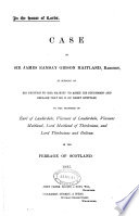 3 papers relating to claims to the earldom of Lauderdale Book
