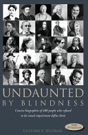 Pdf Undaunted by Blindness, 2nd Edition Telecharger