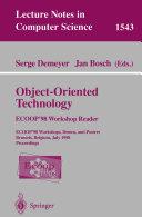 Object Oriented Technology  ECOOP  98 Workshop Reader