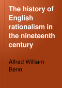 The History of English Rationalism in the Nineteenth Century Pdf/ePub eBook