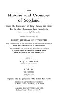 The Historie and Chronicles of Scotland