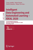 Intelligent Data Engineering and Automated Learning     IDEAL 2020