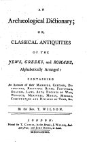 Pdf An Archæological Dictionary