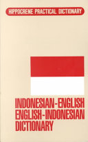 Indonesian English English Indonesian Dictionary Book