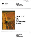 Quality of ... Canadian Wheat