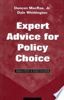 Expert Advice for Policy Choice