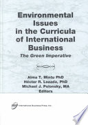 Environmental Issues In The Curricula Of International Business