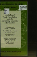 Agricultural Trade Negotiations and the Developing Countries After Seattle