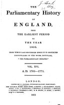 Pdf Cobbett's Parliamentary History of England from the Norman Conquest in 1066, to the Year 1803, from which Last-mentioned Epoch it is Continued Downwards in the Work Entitled,