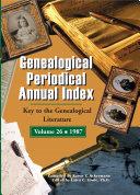 Genealogical Periodical Annual Index 1987
