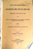 Laws and Ordinances Governing the City of Chicago